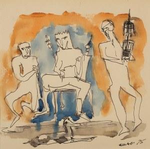 Otto Axer (1906 Przemyśl – 1983 Warszawa), Scena rodzajowa, 1975 r.