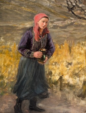 Teodor Axentowicz (1859 Braszów/Rumunia – 1938 Kraków) Dziewczyna z dzbanem