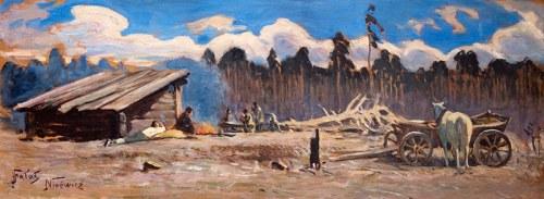 Julian Fałat (1853 Tuligłowy – 1929 Bystra) Odpoczynek po polowaniu