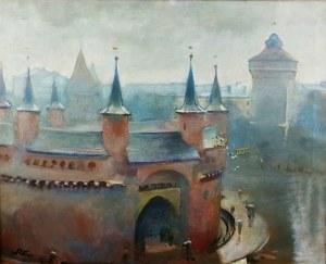 Wojciech Weiss (1875 Leorda w Rumunii – 1950 Kraków) Widok z pracowni na Barbakan