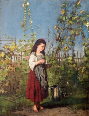 Antoni Kozakiewicz (1841 Kraków – 1929 tamże) Dziewczynka z gniazdkiem, ok. 1885 r.