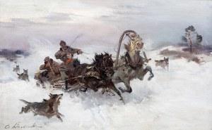 Czesław Wasilewski (1875 Warszawa – 1947 Łódź) Napad wilków