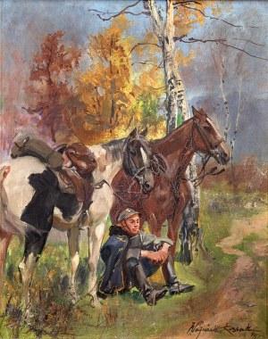 Wojciech Kossak (1856 Paryż – 1942 Kraków) Odpoczynek ułana, 1934 r.