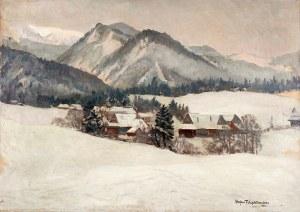 Stefan Filipkiewicz (1879 Tarnów – 1944 Mauthausen) Pejzaż zimowy, 1932 r.