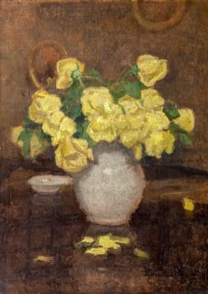 Alfons Karpiński (1875 Rozwadów – 1961 Kraków) Róże żółte, przed 1947 r.