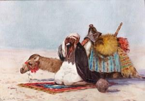 Adam Setkowicz (1875 Kraków – 1945 tamże) Modlitwa na pustyni