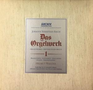Jan Sebastian Bach, Dzieła na organy I (preludia, fugi, toccaty, fantazje, sonaty), wyk. Helmut Walcha