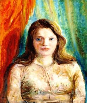 Aneri Irena Weissowa (1888-1981), Portret dziewczyny, ok. 1970
