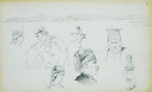 Stanisław Chlebowski (1835-1884), Szkice postaci z pejzażem w tle