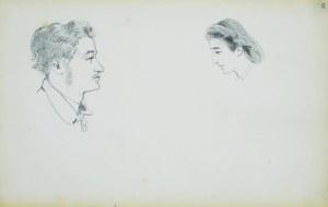 Stanisław Chlebowski (1835-1884), Szkice głowy mężczyzny i kobiety