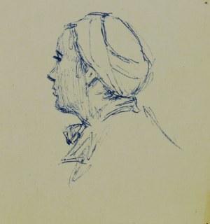 Ludwik Antoni Maciąg (1920-2007), Głowa młodej kobiety ukazana z lewego profilu od tyłu
