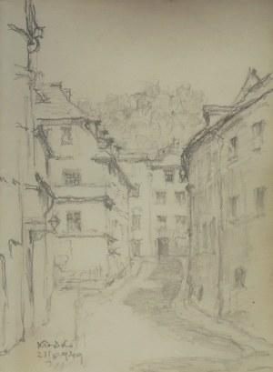 Józef Pieniążek (1888-1953), Uliczka w Kłodzku, 1949