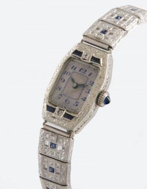 Zegarek damski, naręczny, biżuteryjny, art déco , z bransoletką