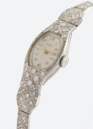 Firma DOXA (zał. 1889), Zegarek damski, naręczny, art-deco, z bransoletą