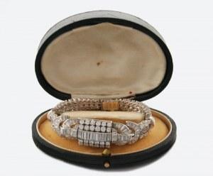 Firma LUNESA, Zegarek naręczny, damski, biżuteryjny, z bransoletką + etui