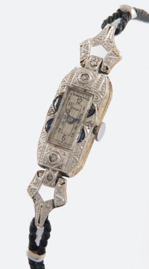 Firma ANCORA, Zegarek damski, naręczny, biżuteryjny, art déco