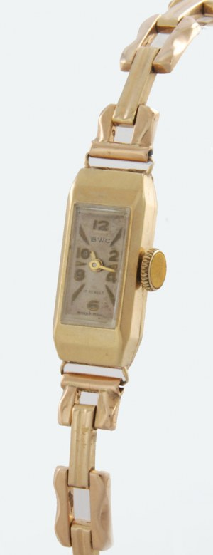 Firma BWC-BUTTES WATCH COMPANY(czynna od 1924), Zegarek damski naręczny, mechaniczny, z bransoletką