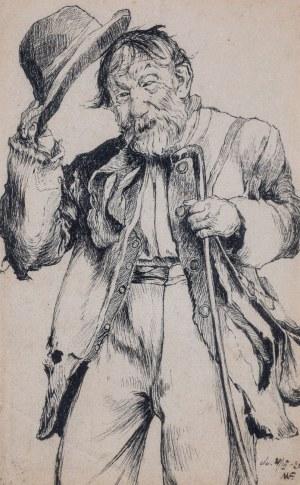 MĘŻCZYZNA UCHYLAJĄCY MELONIKA, 1926