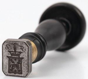 TŁOK PIECZĘTNY FRANCISZKA BARANOWSKIEGO HERBU RUNO, Polska, ok. 1830