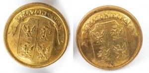 DWA GUZIKI URZĘDNICZE GUBERNI MAZOWIECKIEJ, Polska, Warszawa, Munchheimer, 1837-1844