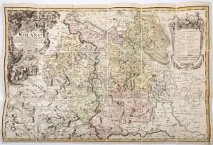 MAPA KSIĘSTWA WOŁOWSKIEGO, Norymberga, Spadkobiercy Homana, 1736