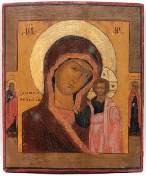 IKONA, MATKA BOŻA KAZAŃSKA, Rosja, XIX w.