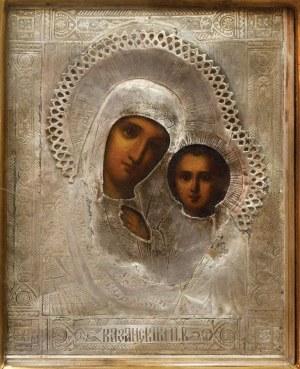 IKONA W KIOCIE MATKI BOŻEJ KAZAŃSKIEJ, Rosja, Moskwa, 1882