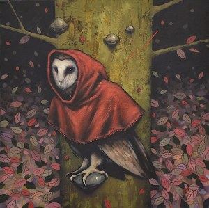 Kamil Stańczak, Barn Owl in Red Hood, 2019