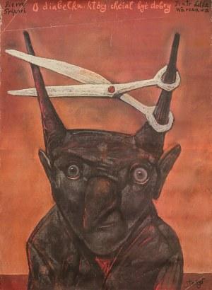 """Stasys EIDRIGEVICIUS (ur. 1949) – projekt, Plakat do przedstawienia """"O diabełku, który chciał być dobry"""" dla Teatru Lalka w Warszawie"""