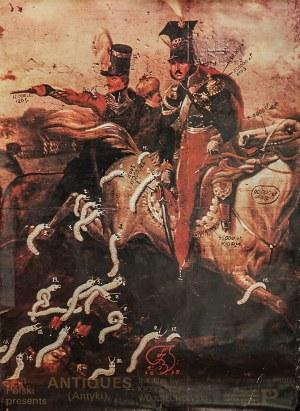 """Franciszek STAROWIEYSKI (1930-2009) – projekt, Plakat do filmu """"Antiques (Antyki)"""" w reżyserii Krzysztofa Wojciechowskiego"""