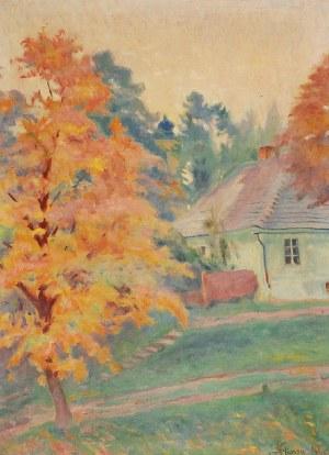Stanisław KLIMOWSKI (1891-1982), Jesienny motyw z Wiśnicza