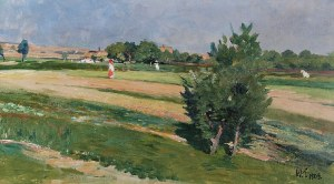 Włodzimierz TETMAJER (1862-1923), Pejzaż wiejski, 1909