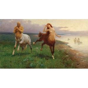 Zygmunt AJDUKIEWICZ (1861-1917), Scena mitologiczna – Pląsy centaurów