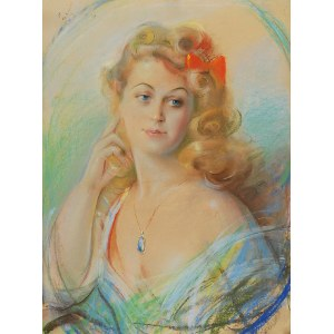 Józef KIDOŃ (1890-1968), Czerwona kokarda, 1944