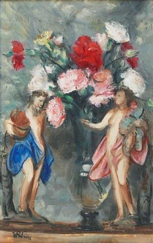Wojciech WEISS (1875-1950), Kwiaty i figurki