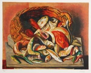 Mojżesz KISLING (1891-1953), Martwa natura z rybami