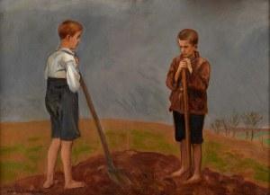 Wlastimil Hofman (1881 Karlino K. Pragi, Czechy - 1970 Szklarska Poręba), Chłopcy
