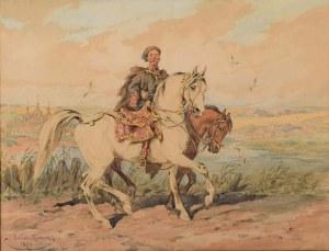 Juliusz Kossak (1824 Nowy Wiśnicz - 1899 Kraków), Kozak z luzakiem, 1894