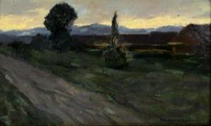 Bronisława Rychter-Janowska (1868 Kraków - 1953 Kraków), Chaty przy drodze, 1908