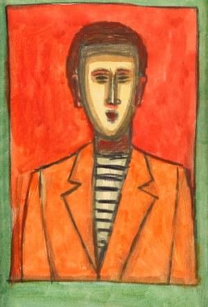 Jerzy Nowosielski (1923 Kraków - 2011 Kraków), Portret mężczyzny