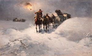 Alfred Wierusz-Kowalski, Nocna jazda, przed 1892