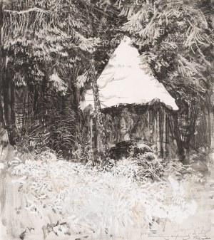 Leon Wyczółkowski, Paśnik w lesie, 1927
