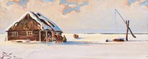Julian Fałat, Zima na Polesiu