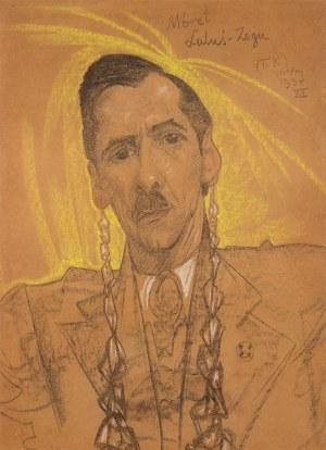Stanisław Ignacy Witkiewicz Witkacy, Portret Antoniego Krahelskiego, 1934