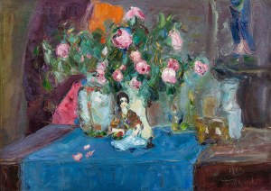Włodzimierz Terlikowski, Martwa natura z różami i laleczką, 1923