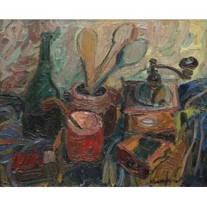 Pinchus Krémègne, Martwa natura z młynkiem do kawy