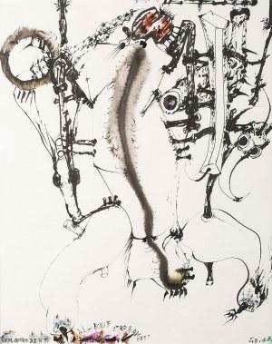 Tadeusz Brzozowski, Homo ludens à la beouf stroganoff, 1986