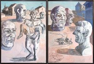 Edward Dwurnik, Chwała bohaterom, 1987 (dyptyk)