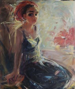 JAROSIEWICZ JADWIGA MARIA, Dziewczyna w czerwonym turbanie