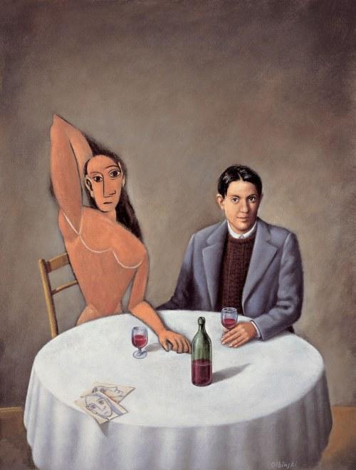 Rafał Olbiński (ur. 1943), Picasso w Lapin Agile
